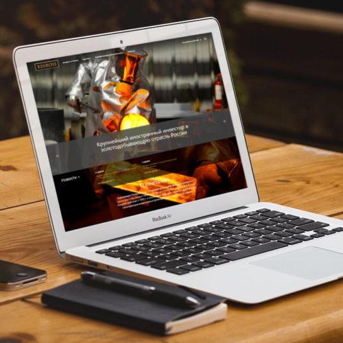 Концепция и дизайн сайта канадской золотодобывающей корпорации Kinross