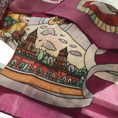 Платок для магазина сувениров «Музеи Московского Кремля»